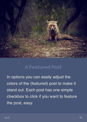 Standard Featured Post Format WordPress