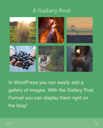 Gallery Post Format WordPress