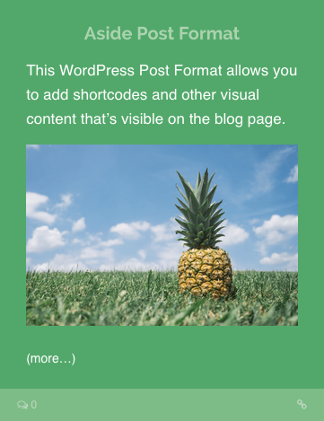 Aside Post Format WordPress