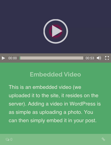 Embedded Video Post Format WordPress